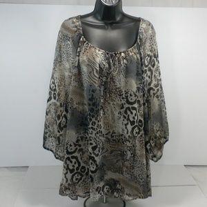 Fred David Women's 2X Plus Size Tunic Top